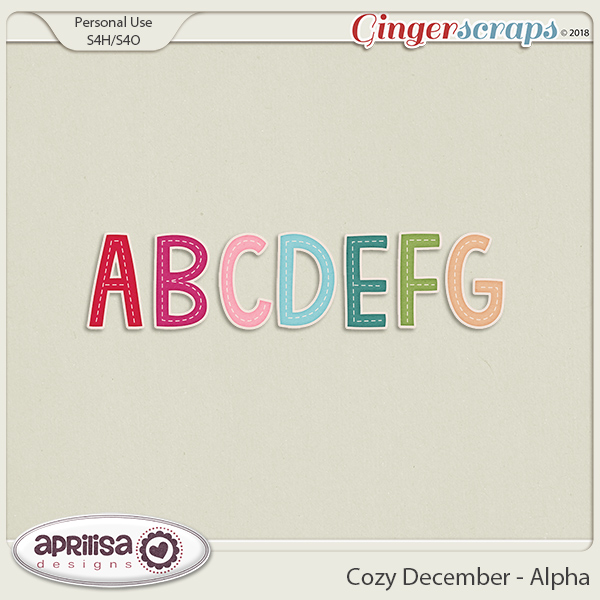Cozy December - Alpha by Aprilisa Designs