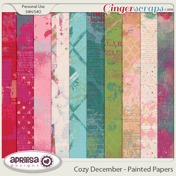 Cozy December - Painted Papers by Aprilisa Designs