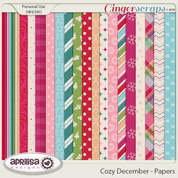Cozy December - Papers by Aprilisa Designs