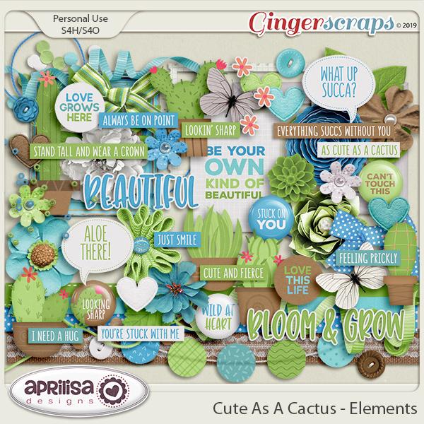 Cute As A Cactus - Elements by Aprilisa Designs