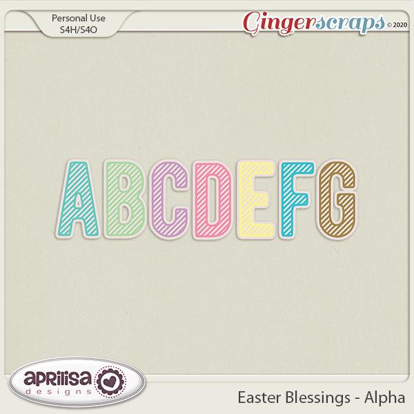 Easter Blessings - Alpha by Aprilisa Designs