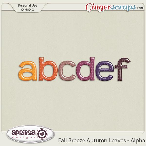 Fall Breeze Autumn Leaves - Alpha by Aprilisa Designs