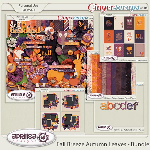 Fall Breeze Autumn Leaves - Bundle by Aprilisa Designs