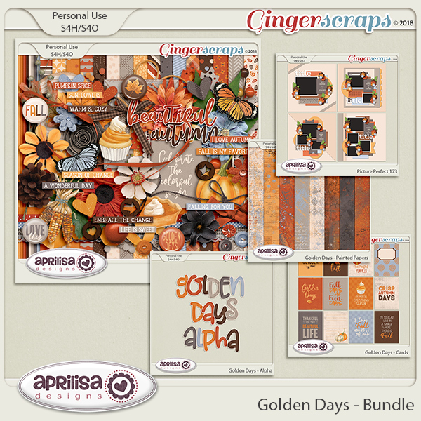 Golden Days - Bundle by Aprilisa Designs
