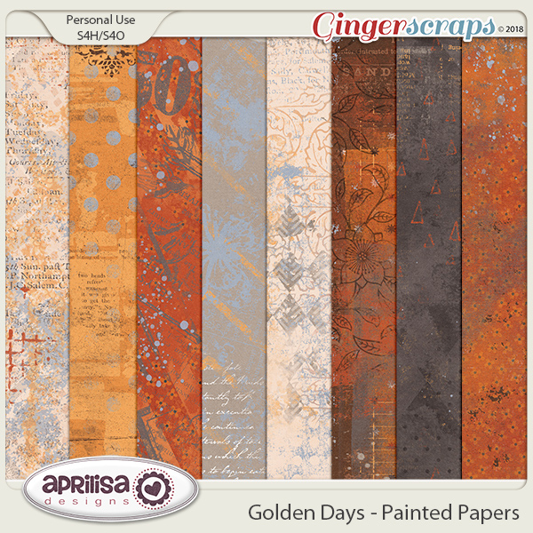 Golden Days - Painted Papers by Aprilisa Designs