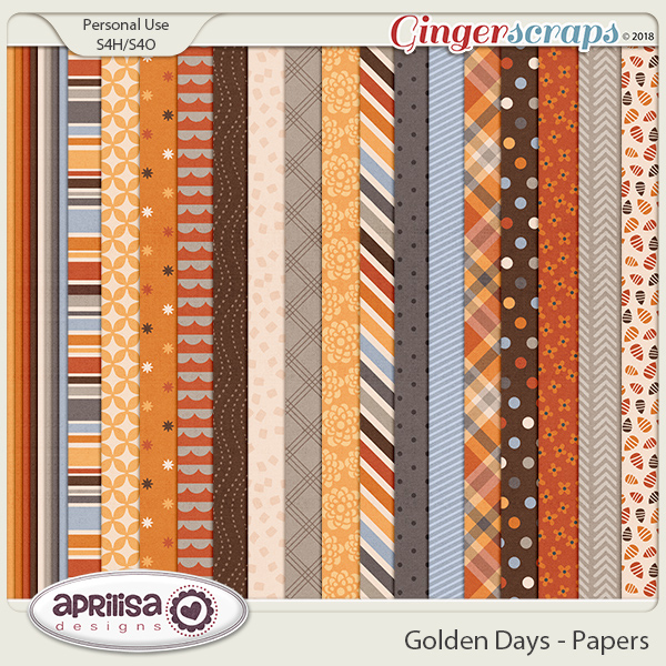 Golden Days - Papers by AprilisaDesigns