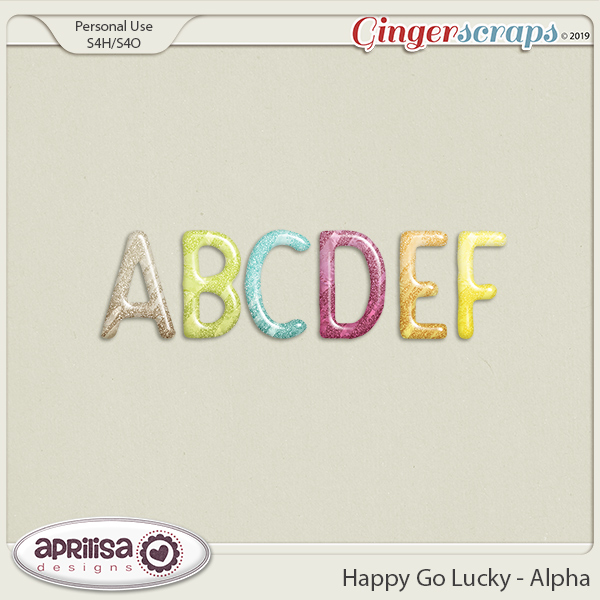 Happy Go Lucky - Alpha by Aprilisa Designs