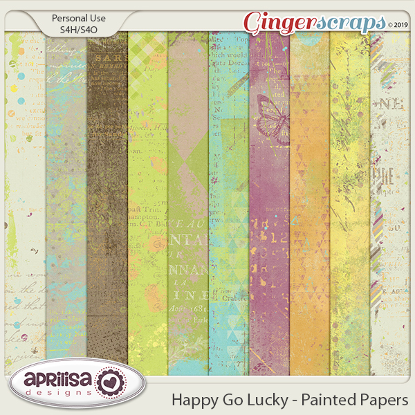 Happy Go Lucky - Painted Papers by Aprilisa Designs