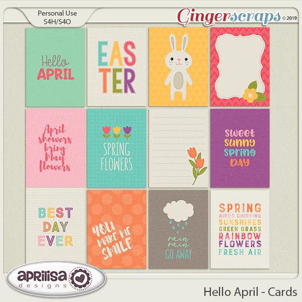Hello April - Cards