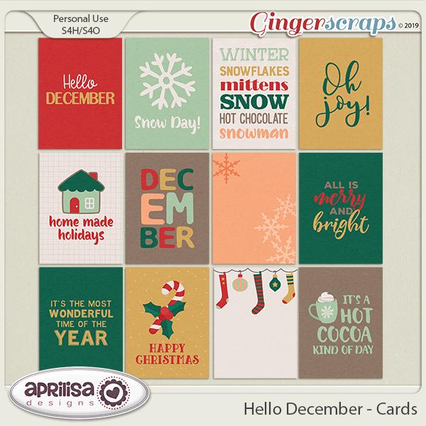 Hello December - Cards
