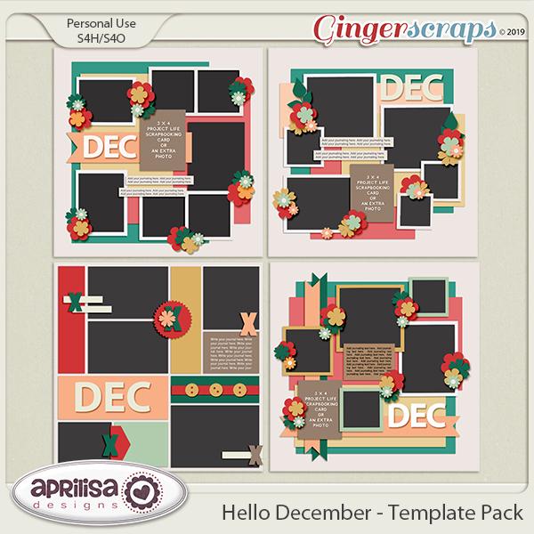 Hello December - Template Pack