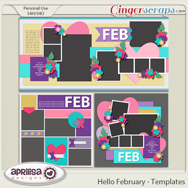 Hello February - Template Pack