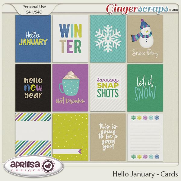Hello January - Cards