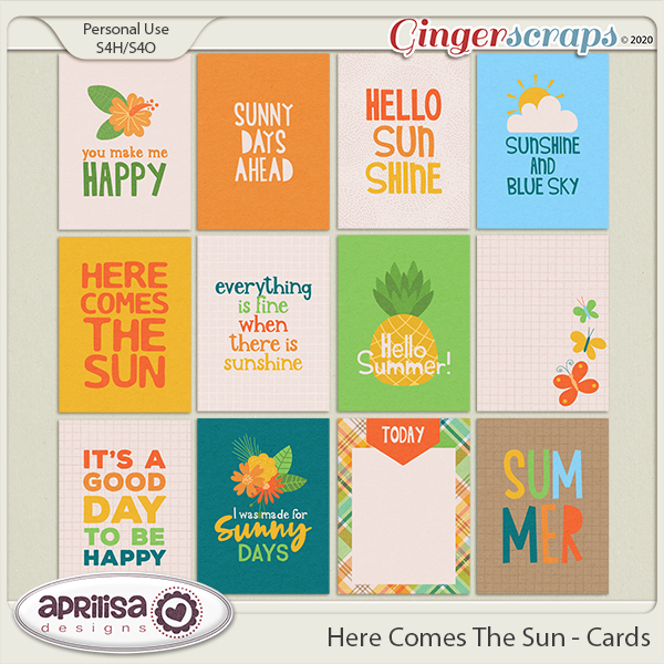 Here Comes The Sun - Cards by Aprilisa Designs