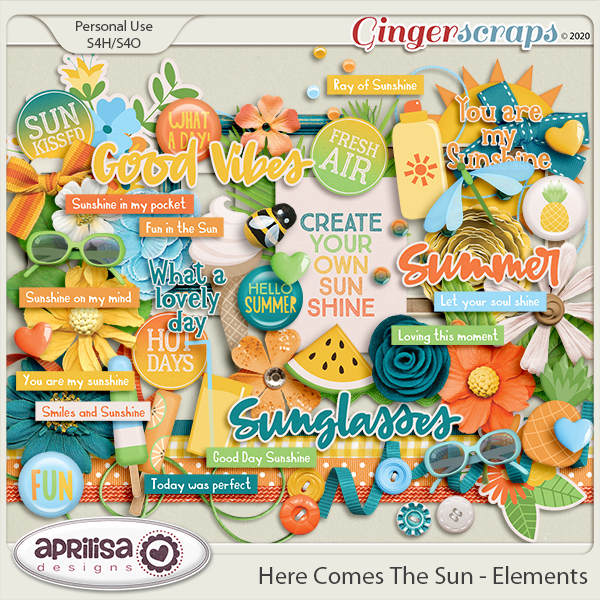 Here Comes The Sun - Elements by Aprilisa Designs
