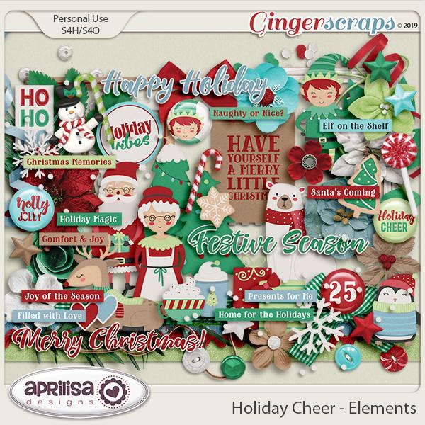 Holiday Cheer - Elements by Aprilisa Designs