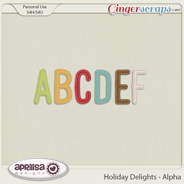 Holiday Delights - Alpha by Aprilisa Designs