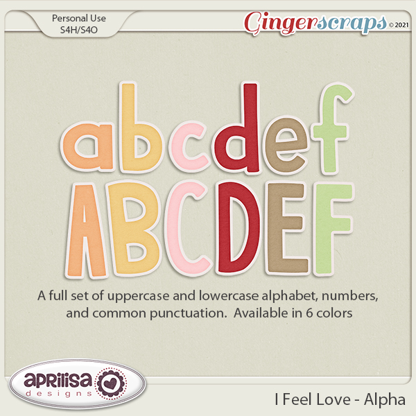 I Feel Love - Alpha by Aprilisa Designs.