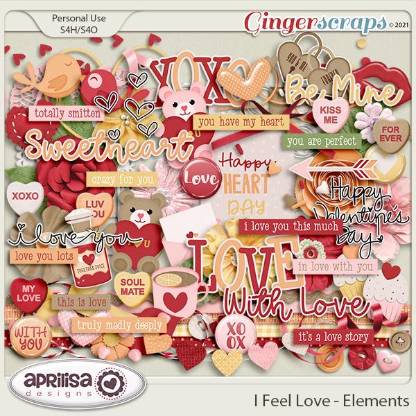 I Feel Love - Elements by Aprilisa Designs
