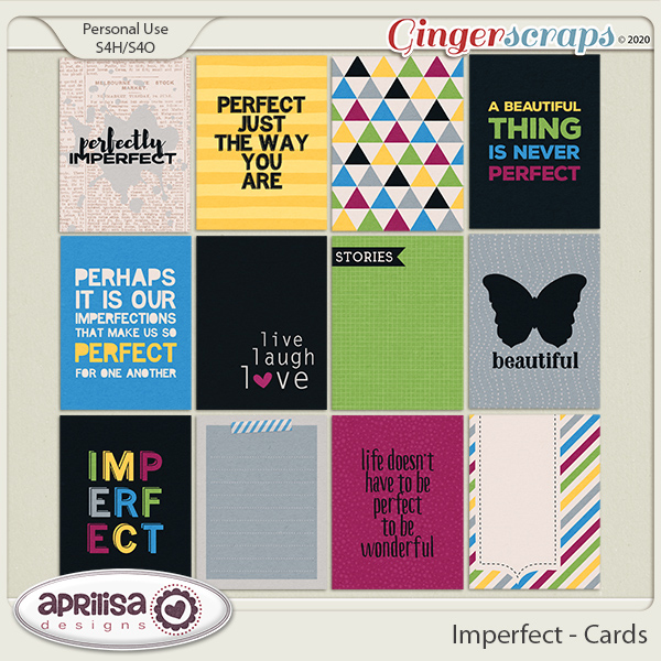 Imperfect - Cards by Aprilisa Designs