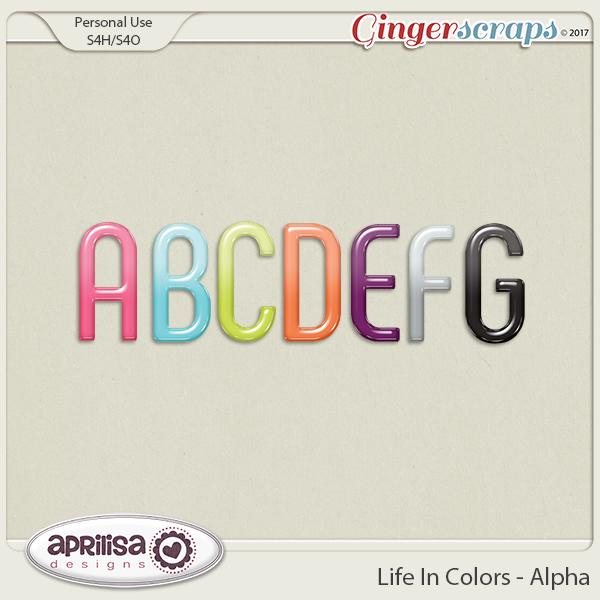 Life In Colors - Alpha by Aprilisa Designs