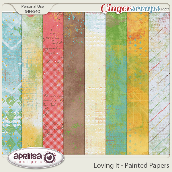 Loving It - Painted Papers