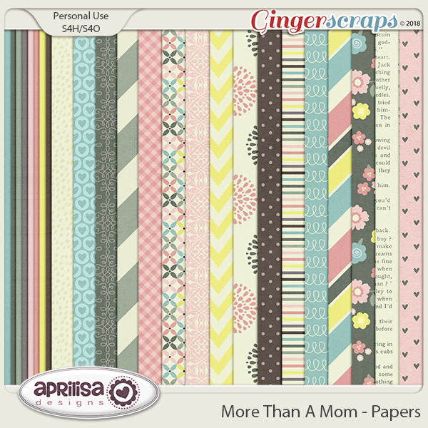 More Than A Mom - Papers by Aprilisa Designs