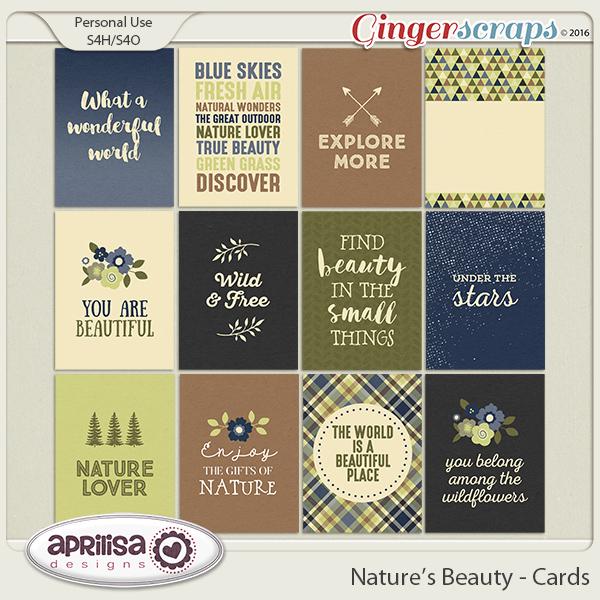Nature's Beauty - Cards by Aprilisa Designs