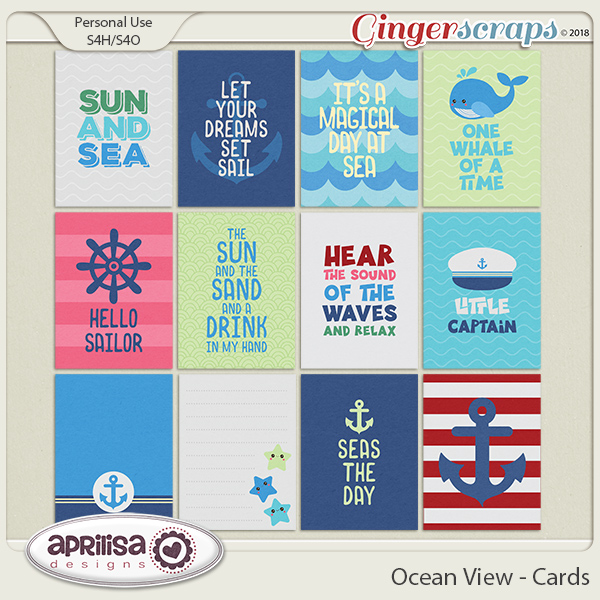 Ocean View - Cards by Aprilisa Designs