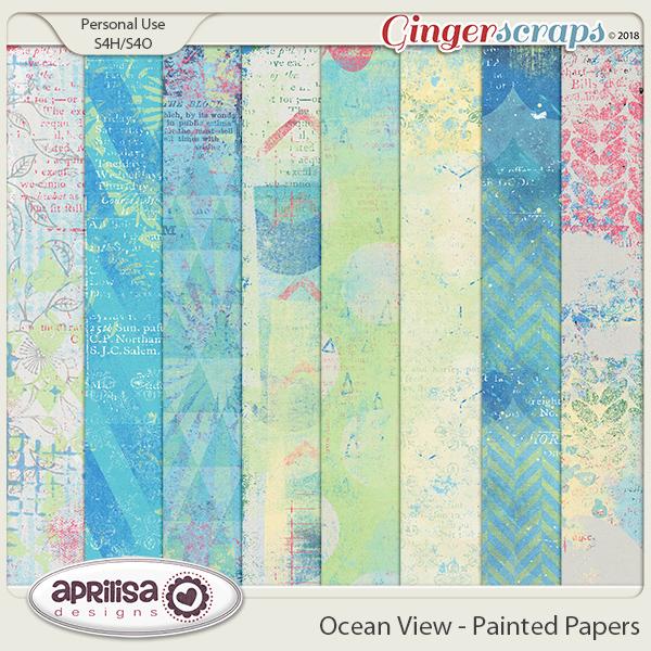 Ocean View - Painted Papers by Aprilisa Designs