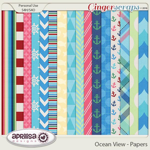 Ocean View - Papers by Aprilisa Designs