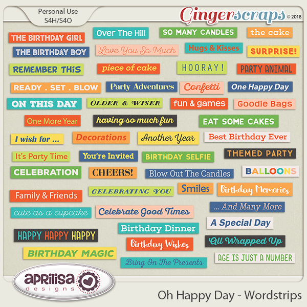 Oh Happy Day - Wordstrips