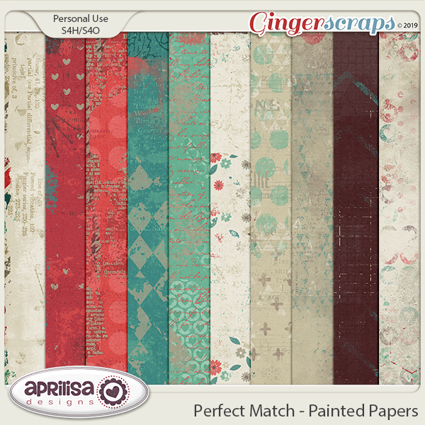 Perfect Match - Painted Papers by Aprilisa Designs