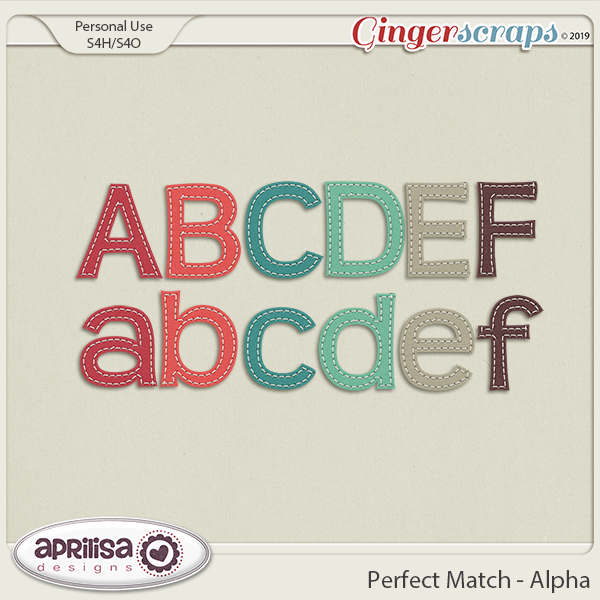 Perfect Match - Alpha by Aprilisa Designs