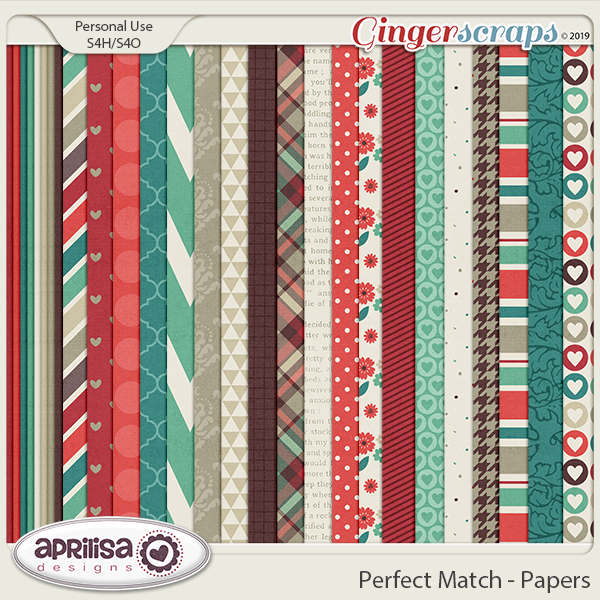 Perfect Match - Papers by Aprilisa Designs