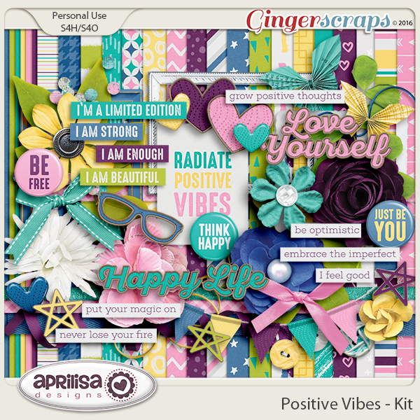 Positive Vibes - Kit by Aprilisa Designs