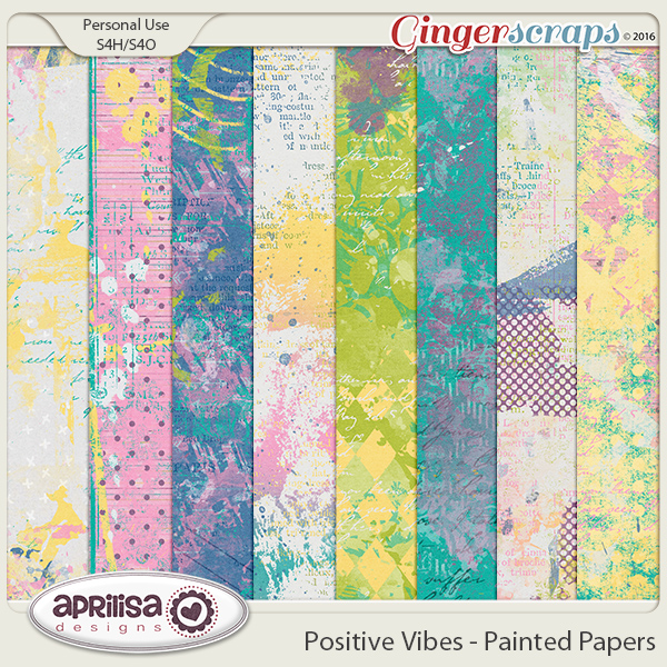 Positive Vibes - Painted Papers by Aprilisa Designs