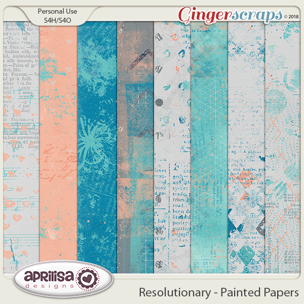 Resolutionary - Painted Papers by Aprilisa Designs
