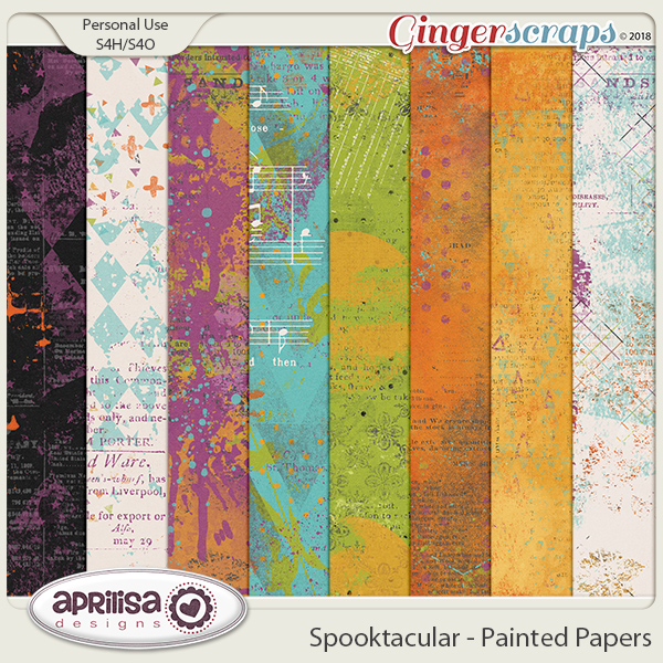 Spooktacular - Painted Papers
