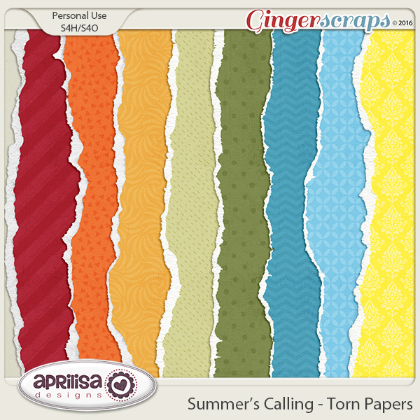 Summer's Calling - Torn Papers by Aprilisa Designs