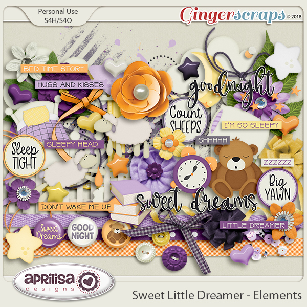 Sweet Little Dreamer - Elements by Aprilisa Designs