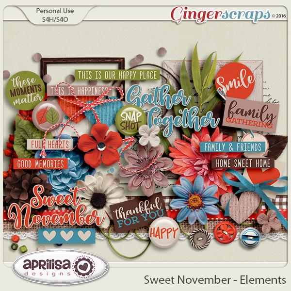 Sweet November - Elements by Aprilisa Designs