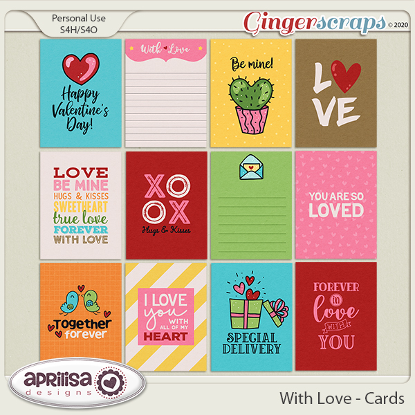 With Love - Cards by Aprilisa Designs