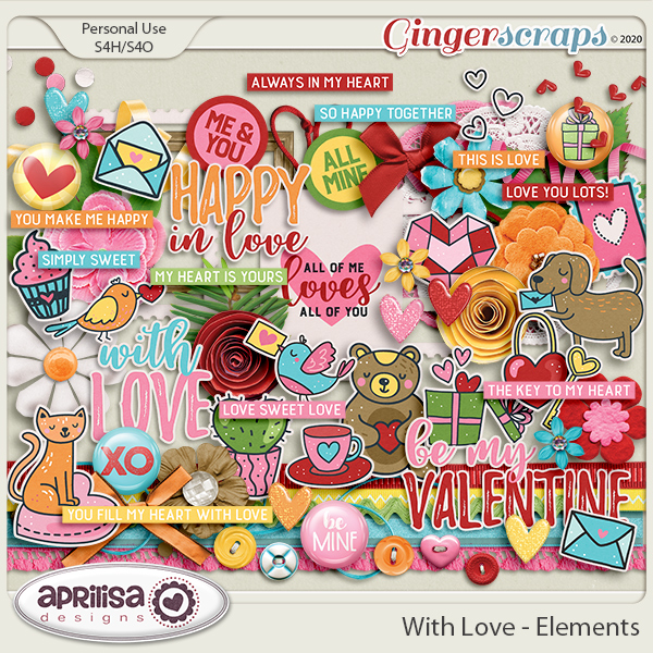 With Love - Elements by Aprilisa Designs