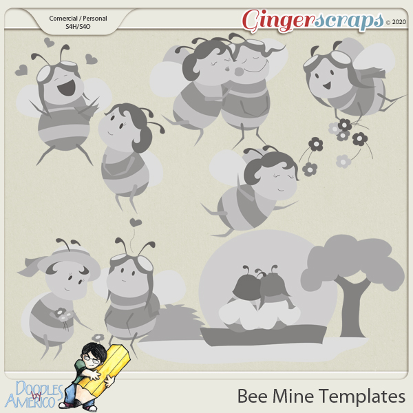 Doodles By Americo: Bee Mine Templates