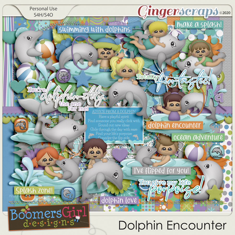 Dolphin Encounter by BoomersGirl Designs