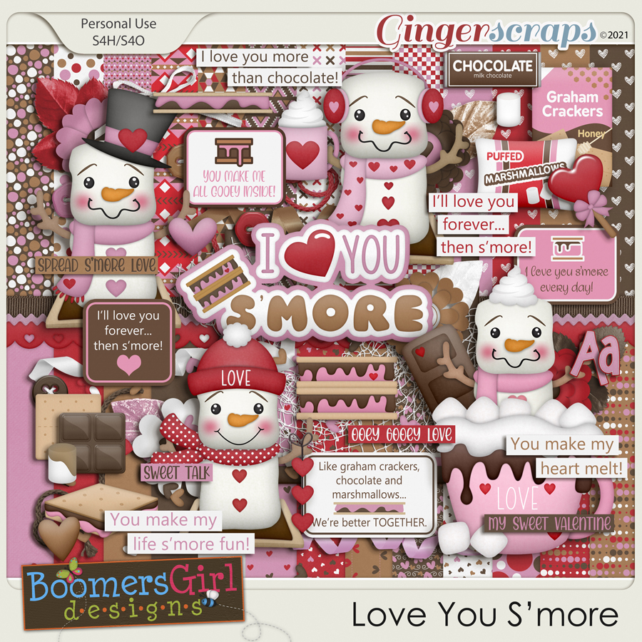 Love You S'more by BoomersGirl Designs