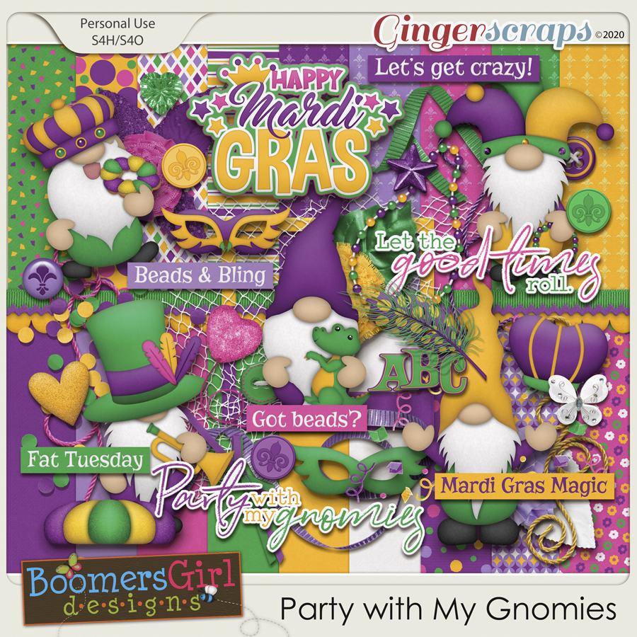 Party with My Gnomies by BoomersGirl Designs