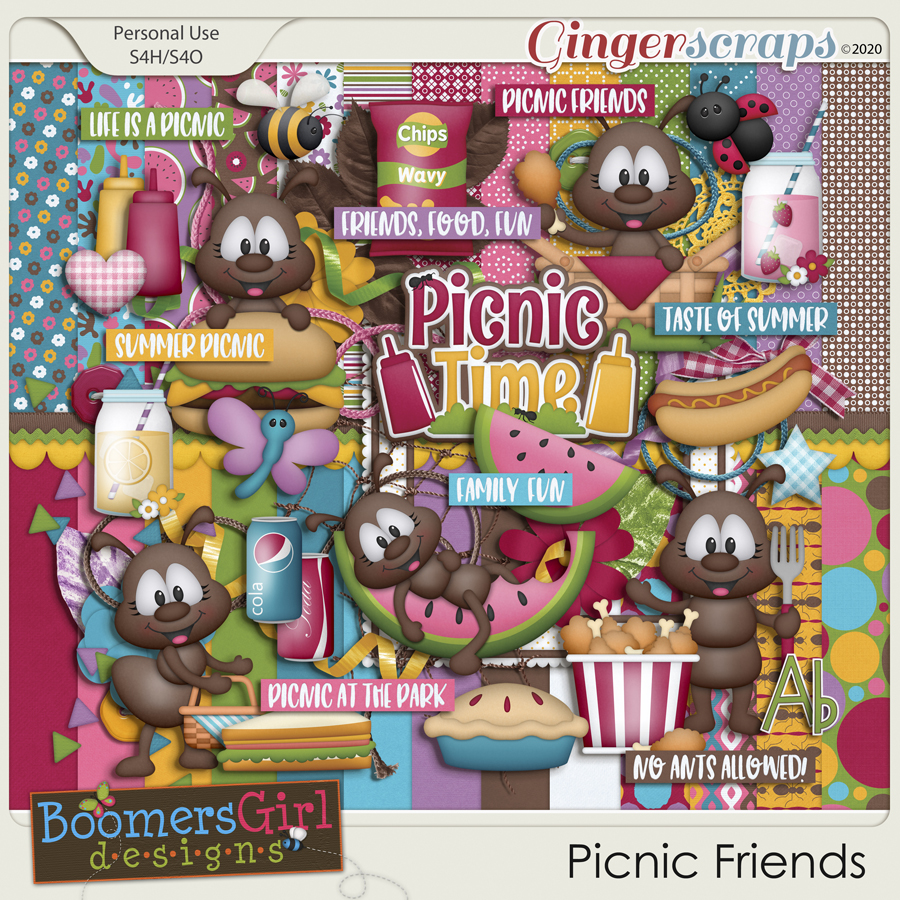 Picnic Friends by BoomersGirl Designs