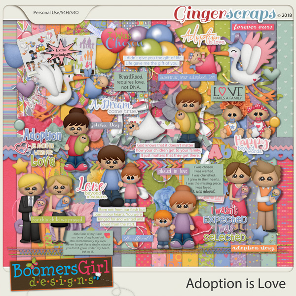 Adoption is Love by BoomersGirl Designs